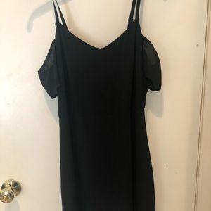 EXPRESS Off the shoulder cute black elegant dress